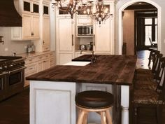 reclaimed Oak beams were used to make this beautiful island top. The patina of each piece was carefully preserved to enhance the natural antique appearance. The top was finished with Hardwax Oil in natural color. Reclaimed Kitchen, Patina Color, Red Oak, Beautiful Islands, Beams, Countertops, Kitchen Island, Hardwood, Satin
