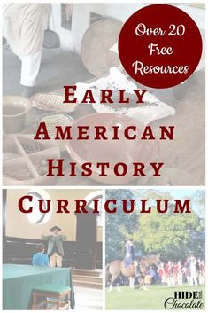 Early American History Curriculum - Over 20 Free Resources & Printables