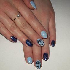 Stylografem po raz pierwszy ☺ #nailart #bluenails #ilovesemilac #instanails #manicurehybrydowy #manicure #nails #nailporn #hybridnails #semilac #indigo #shanghai #dreamcatcher @nails_champions