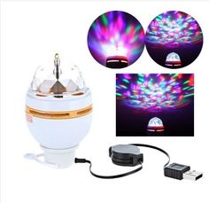 11.00$  Watch now - http://alibmk.shopchina.info/go.php?t=32805381628 - Mini RGB LED Lamp Bulb Stage Lighting Magic Ball 5V DJ Disco Party Club White with USB Interface For Family Party/Holiday 11.00$ #aliexpress