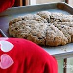 Skinny Chocolate Chip Buttermilk Scones