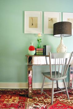 ways to work in the afghan rug to a modern room