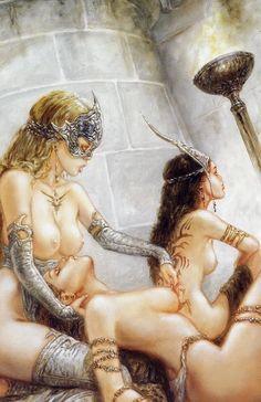 No men were allowed at their secret ritual.   By Luis Royo