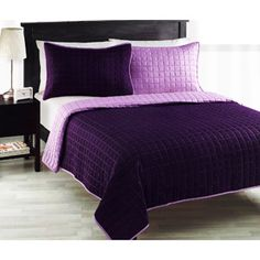 Roseville Reversible Bedding Quilt- Of course not the purple. I like the Navy and Red look.