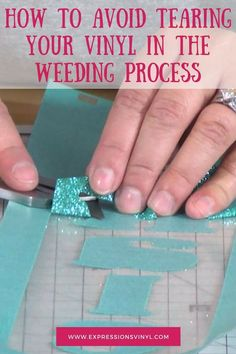 How To Avoid Tearing Your Vinyl In The Weeding Process - Expressions Vinyl Cricut Help, Cricut Air, Cricut Vinyl, Inkscape Tutorials, Cricut Tutorials, Cricut Ideas, Cricut Explore Projects, Vinyl Projects, Circuit Projects