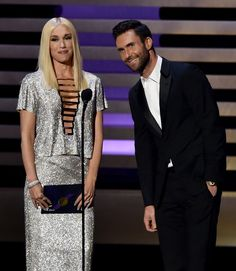 Pin for Later: Go Inside the Emmy Awards!  Gwen Stefani and Adam Levine teamed up to present.