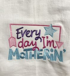 A mother/'s love is unconditional her temper is another subject embroidered flour sack towel