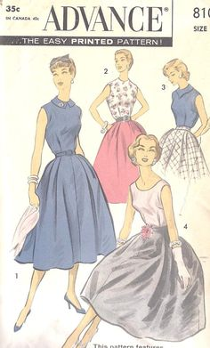 """Fabulous Vintage dresses!! Reminds me of Doris Day (and the other ladies) in """"The Pajama Game""""!"""
