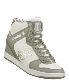 Look what I found on #zulily! Gray & White Leather Moolah Sneaker by Daddy's Money by Skechers #zulilyfinds