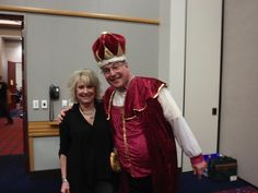 Our Director of Marketing, Jerri Koos, with the Chess King!
