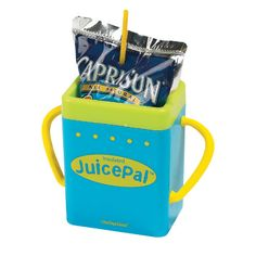 Juice Pal Insulated Juice Box Holder because you have to keep them from wheezing the juice ;)