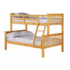 The Porto Triple Sleeper Bunk Bed is a solid pine bunk bed and is capable of splitting into two beds for added versatility. The top bunk is a single bed foot) whilst the bottom bunk is a small double foot bed). Trio Bunk Beds, Bunk Beds For Boys Room, Cool Bunk Beds, Kid Beds, Triple Sleeper Bunk Bed, High Sleeper Bed, Double Bunk Beds, Triple Bunk, Single Bunk Bed