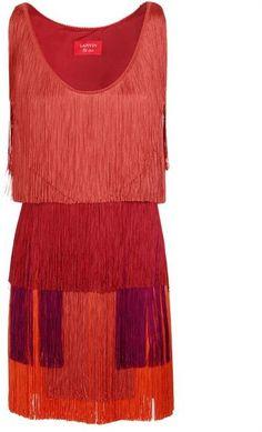 Lanvin Tiered Fringed Dress