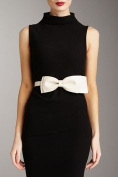 lbd and a white bow~~~ Valentino Loved by www.chicncheeky.com.au