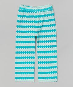 Look at this #zulilyfind! Water Blue Wave Organic Pants - Infant, Toddler & Kids by kate quinn organics #zulilyfinds