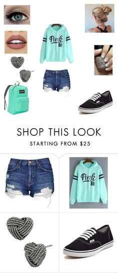"""""""Lazy look"""" by tasnimkhan-258 ❤ liked on Polyvore featuring Topshop, Urban Decay, NYX, Betsey Johnson, Vans and JanSport"""