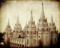 Free temple printables-- sadly, they only have 5 or so temples to choose from... but the ones they have are GORGEOUS, just like this image of the SLC temple