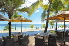 Beachside dining at Trou aux Biches Mauritius