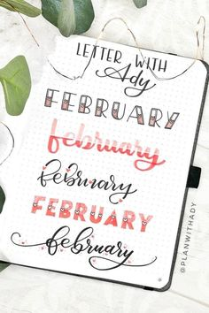 Best Bullet Journal Header & Title Ideas for 2020 - Crazy Laura - The Ultimate . - Best Bullet Journal Header & Title Ideas for 2020 – Crazy Laura – The Ultimate Collection o - Bullet Journal School, February Bullet Journal, Bullet Journal Headers, Bullet Journal Banner, Bullet Journal Writing, Bullet Journal Aesthetic, Bullet Journal Ideas Pages, Bullet Journal Inspiration, Journal Fonts