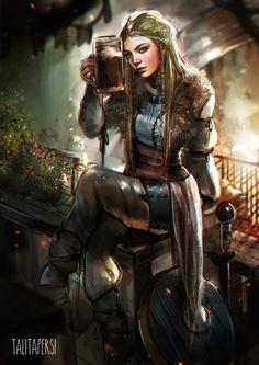 f Rogue Thief leather shield drinking tavern urban farmland lwlvl
