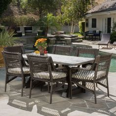 palmers outdoor 5 piece wicker dining set with cushions by