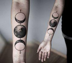 Cool Geometric Tattoos Designs & Ideas - lunar cycle - Maiden/Mother/Crone