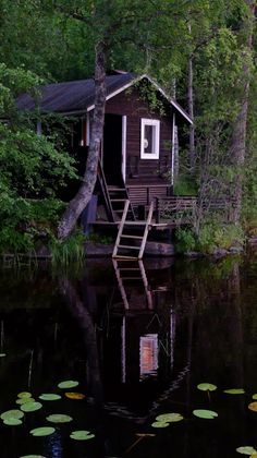 Awesome 48 Wonderful Home Sauna Design Ideas Sauna Design, Outdoor Sauna, Finnish Sauna, Summer Cabins, Little Cabin, Cabins And Cottages, Cabin Homes, Cabins In The Woods, My Dream Home