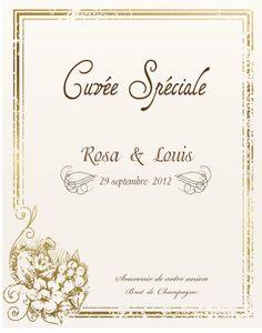 etiquette personnalise de vin et de champagne colombire - Etiquette Bouteille Champagne Mariage