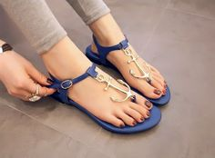 Anchor Me Down Sandals on Picsity