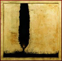 Christos Bokoros Cypress illuminated shadow (έργο συλλογής / collection`s artwork) | Felios Collection Painter, Art, Painting