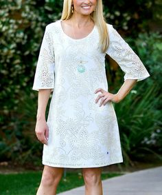 Another great find on #zulily! White Elaina Dress by Ava Rose Designs #zulilyfinds