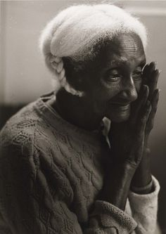 Joan Cassis, Untitled (Elderly Afro-American Woman with Braid, Mary), 1986