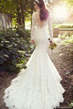 essense of australia wedding dress 2015 bridal long sleeves sweetheart neckline a line gown d1745