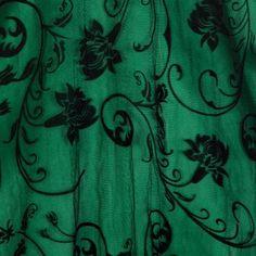 Farnkie-Jean Black Flock Dress | Vintage Inspired Fashion - Lindy Bop