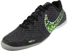 23576676f Nike FC247 Elastico Finale II Indoor Soccer Shoes - Black and Neo Lime.