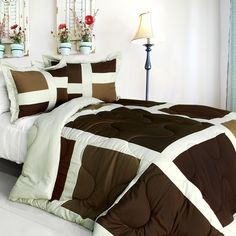 [New Melody] Quilted Patchwork Down Alternative Comforter Set (Twin Size)
