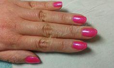 CND Shellac Rockstars Future Fuchsia with bright pink glitter