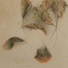 """yama-bato: """" Bruno Bruni, Farblithographie """"Autumno II"""", 1987 """""""