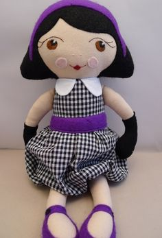 Stoffpuppe // Fabric doll by CatinkaHinkebein via DaWanda.com