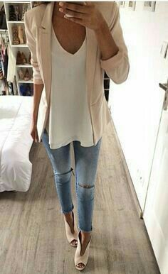 love the cami, blazer and shoes!