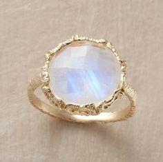 Raw Moonstone Ring