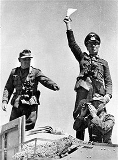 World War II. Marshal Rommel (1891-1944) directing the manoeuvres on the Libyan front, February 1942. Pin by Paolo Marzioli