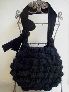 バッグKit Crochet Sac Kit-Crochet Ballon 2011Hiver- TypeI:Noir - Scintillerk(サンティエ・ケー) Handmade Kit Shop