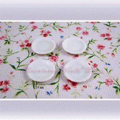 4 Assiettes en porcelaine blanche - DM87