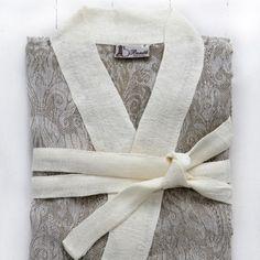 Giglio bath robe in taupe #hardtofind. #bath #bathroom #bath_robe #home #taupe