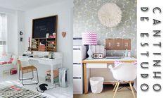 Decoração - Veja algumas alternativas interessantes para ter um bom cantinho de estudo em seu próprio quarto.* Ah, mas ele é pequeno... Acredite amiga, depois de ler esse post vc verá que é super possível ter um local para estudar mesmo tendo um quarto pequenino. Vem conferir. http://meusdoisminutos.blogspot.com.br/  #decor #decoração #decoraçãodequarto #idea #ideia #decorar #divulgando #Concurseiro #vestibulando #luxo