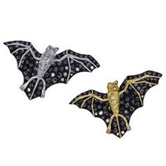 Dorera by Michelle Ong Diamond Gold Bat Brooches