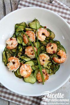 Insalata light di gamberi e zucchine ricetta e foto