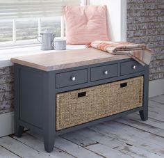 Storage+Bench+With+Drawers+u0026+Basket+ +Downpipe
