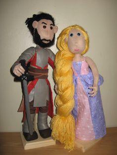 Duncan and Rapunzel Poppets